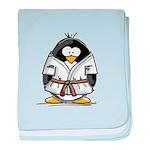 Martial Arts brown belt pengu baby blanket