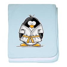 Martial Arts gold belt pengui baby blanket