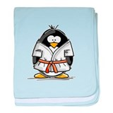 Martial Arts orange belt peng baby blanket