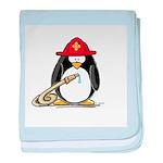 Fireman penguin baby blanket