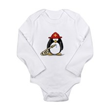 Fireman penguin Long Sleeve Infant Bodysuit