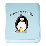Grandma to Be Penguin baby blanket