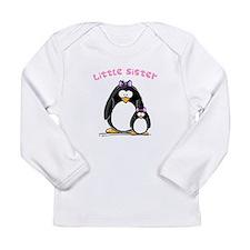 Little Sister penguin Long Sleeve Infant T-Shirt