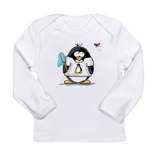 linux vs windows Penguin Long Sleeve Infant T-Shir