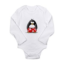 Swim Trunk Penguin Long Sleeve Infant Bodysuit