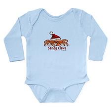 Sandy Claus Long Sleeve Infant Bodysuit