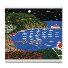 Cute Catalina island Tile Coaster