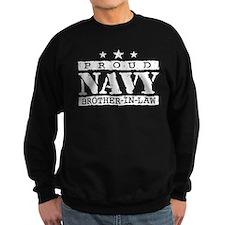 Proud Navy Brother In Law Sweatshirt