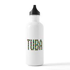 Tuba Color Blocks Water Bottle