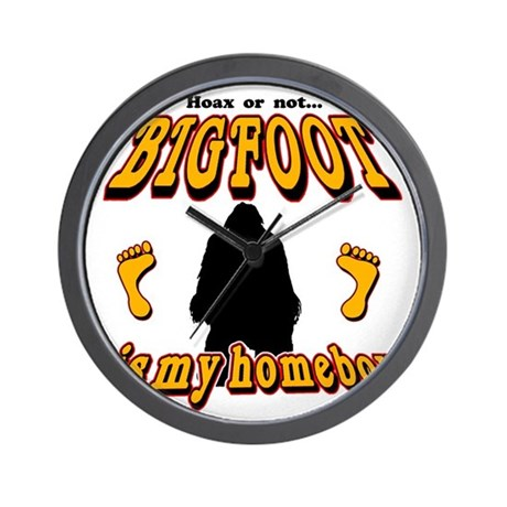 Bigfoot is my Homeboy Wall Clock