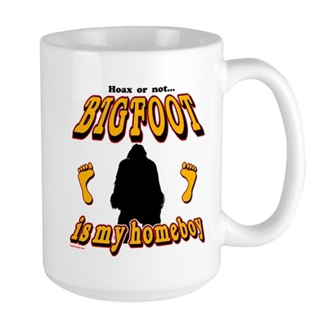 Bigfoot is my Homeboy Large Mug