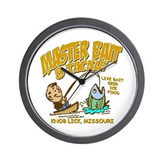Master Bait Tackle Wall Clock