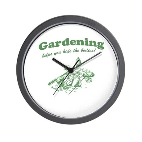 Gardening Helps Wall Clock