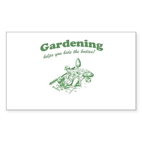 Gardening Helps Rectangle Sticker