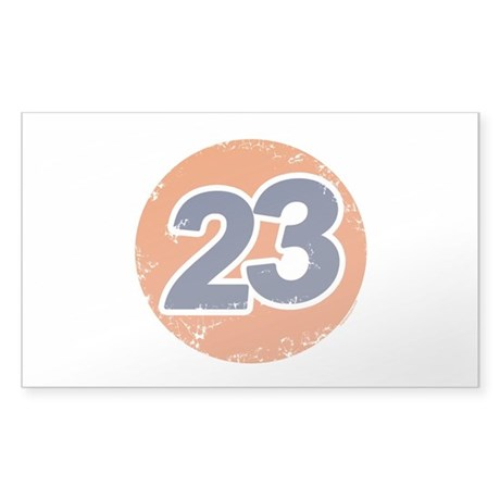 23 Logo Rectangle Sticker