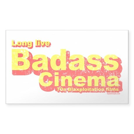 Badass Cinema Rectangle Sticker