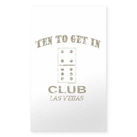 Club 10 Rectangle Sticker