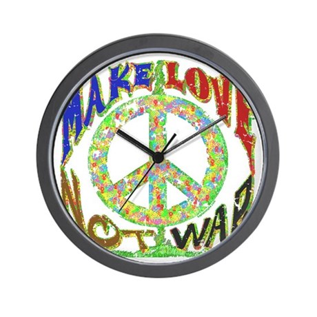 Love not War Wall Clock