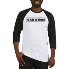 Add as Friend Baseball Jersey