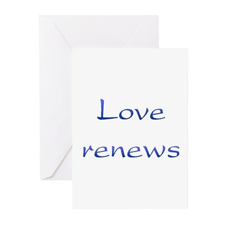 Love Renews Greeting Cards ~ Package of 10