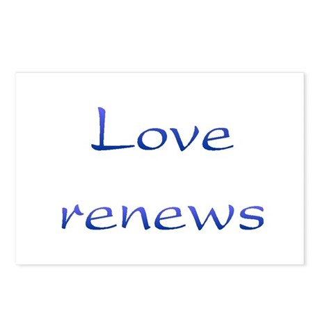 Love Renews Postcards ~ Package of 8