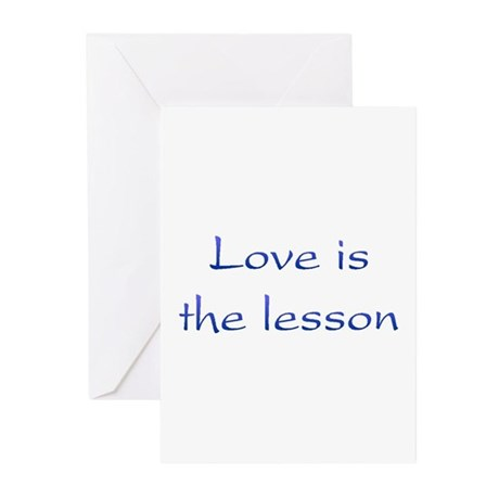 Love Is The Lesson Greeting Cards ~ Package of 10
