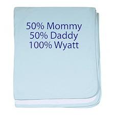 100% Wyatt baby blanket