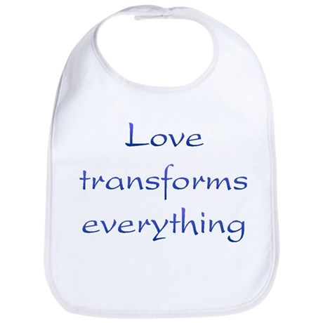 Love Transforms Baby Bib