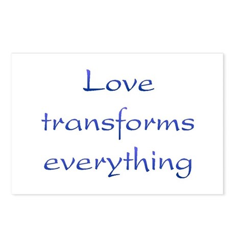 Love Transforms Postcards ~ Package of 8
