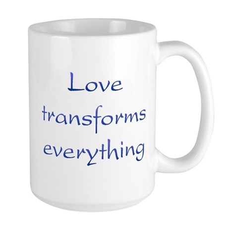 Love Transforms Large Coffee Mug