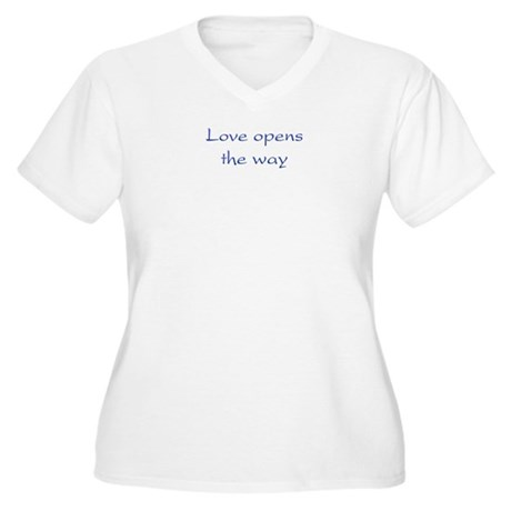 Love Opens The Way Women's Plus Size V-Neck T-Shirt