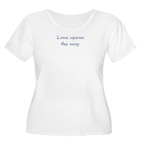 Love Opens The Way Women's Plus Size Scoop Neck T-Shirt