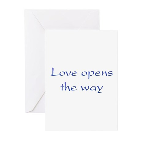 Love Opens The Way Greeting Cards ~ Package of 10