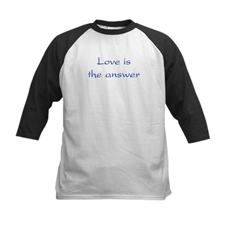 Love Is The Answer Kids Baseball Jersey