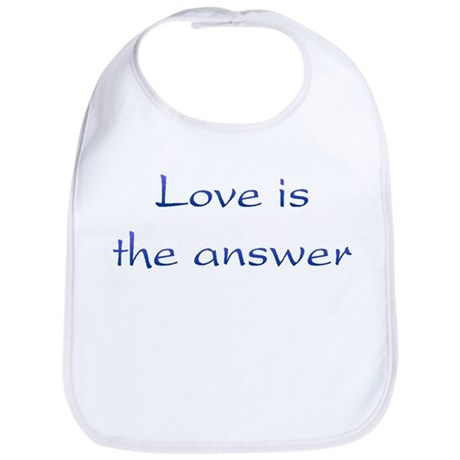 Love Is The Answer Baby Bib