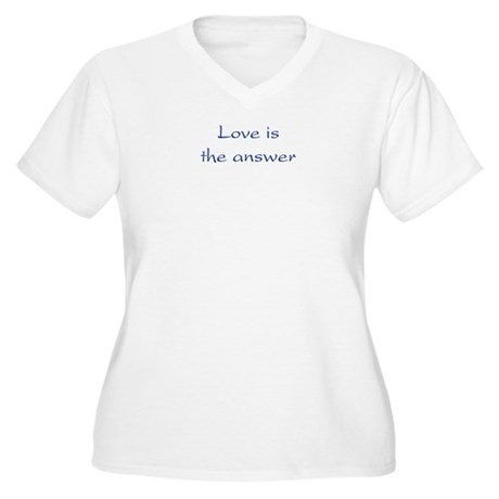 Love Is The Answer Women's Plus Size V-Neck T-Shirt