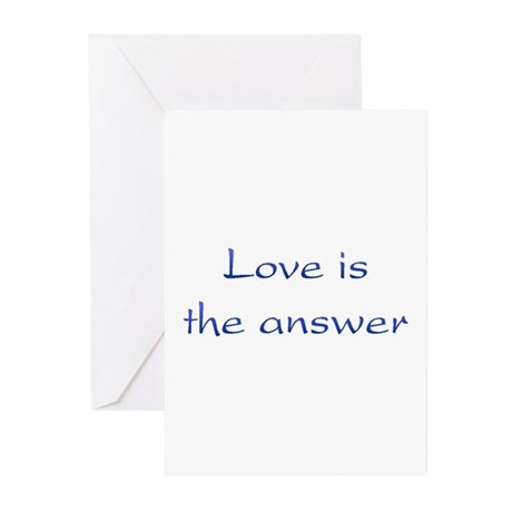 Love Is The Answer Greeting Cards ~ Package of 10