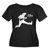 iUke - Ukulele Women's Plus Size Scoop Neck Dark T