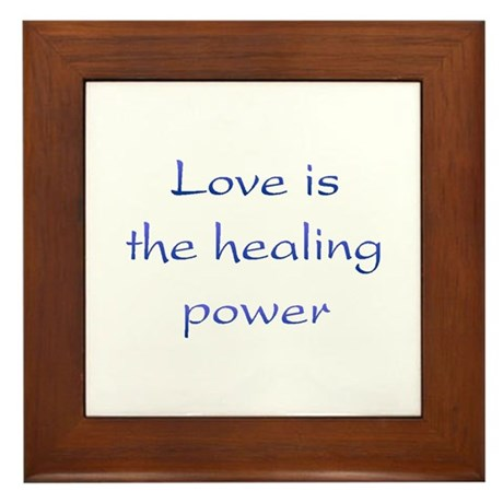 Healing Power Framed Tile