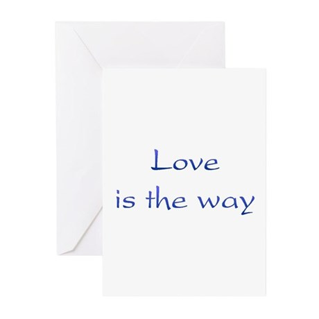Love Is The Way Greeting Cards ~ Package of 10