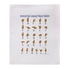 Sign Language Alphabet Throw Blanket