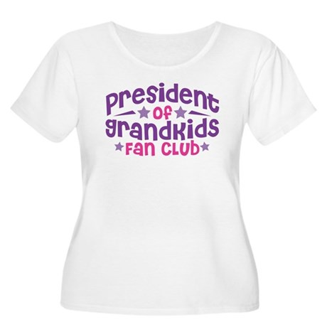 PRESIDENT GRANDKIDS FAN CLUB Women's Plus Size Sco