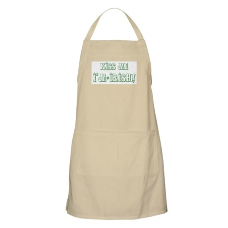 Kiss Me I'm Irish! BBQ Apron