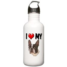I Love My Boston Terrier Water Bottle