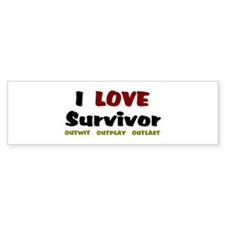 Survivor fan Bumper Sticker