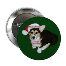 """Have a Very Corgi Christmas 2.25"""" Button (10 pack)"""