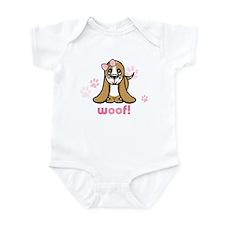Woof! Basset Hound Infant Creeper