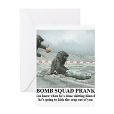 BOMB SQUAD PRANK1 Greeting Cards