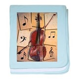 Cute Violin baby blanket