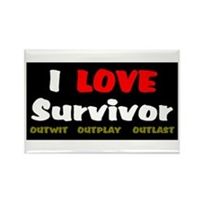 Survivor fan Rectangle Magnet (100 pack)